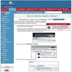 Créer une recherche enregistrée - Windows 7
