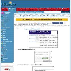Récupérer toutes les images d'un PDF - Windows toutes versions