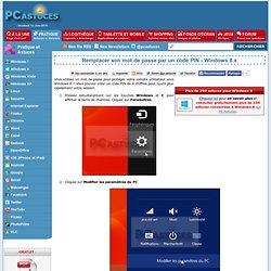 Remplacer son mot de passe par un code PIN - Windows 8.x
