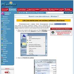 Revenir à une date antérieure - Windows 7
