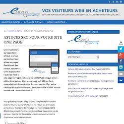 Astuces SEO pour votre site One Page