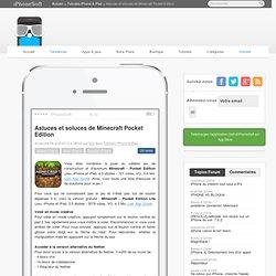Astuces et soluces-Minecraft Pocket Edition