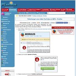 Télécharger une vidéo YouTube en MP4 - Firefox