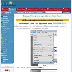 Toujours afficher plus de pages à l'écran - Adobe Reader