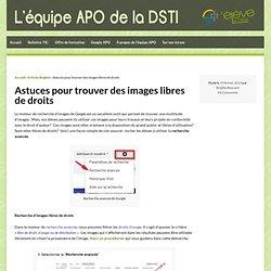 Astuces pour trouver des images libres de droits » L'équipe APO de la DSTI