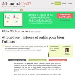 @font-face : astuces et outils pour bien l'utiliser