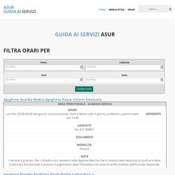 ASUR - GUIDA AI SERVIZI