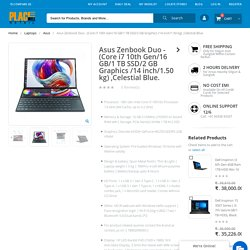 Asus Zenbook Duo - (Core i7 10th Gen/16 GB/1 TB SSD/2 GB Graphics)
