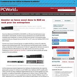 Asustor se lance aussi dans le NAS en rack pour les entreprises