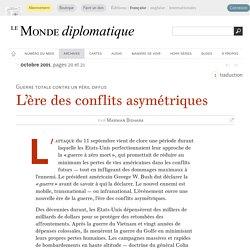 L'ère des conflits asymétriques, par Marwan Bishara (Le Monde diplomatique, octobre 2001)