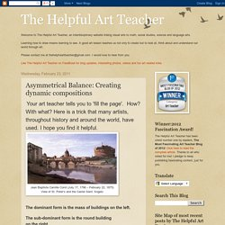 The Helpful Art Teacher: Asymmetrical Balance: Creating dynamic compositions
