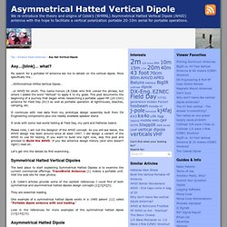 Asymmetrical Hatted Vertical Dipole