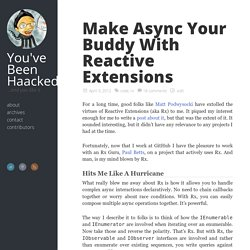 Make Async Your Buddy With Reactive Extensions