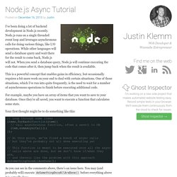 Node.js Async Tutorial - Justin Klemm