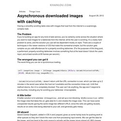 Asynchronous downloaded images with caching