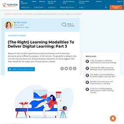 The Right Asynchronous Learning Elements