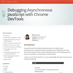 Debugging Asynchronous JavaScript with Chrome DevTools