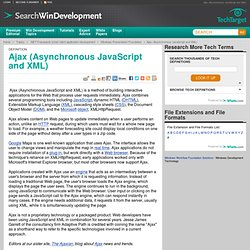 What is Ajax (Asynchronous JavaScript and XML)? - Definition from WhatIs.com