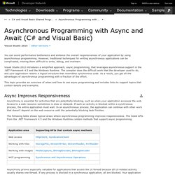 Asynchronous Programming with Async and Await (C# and Visual Basic)