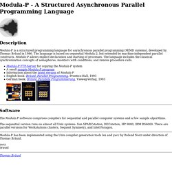 Modula-P - A Structured Asynchronous Parallel Programming Language