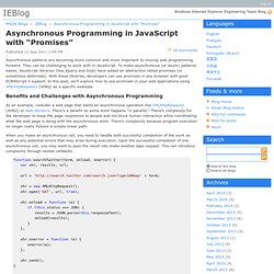"Asynchronous Programming in JavaScript with ""Promises"" - IEBlog"