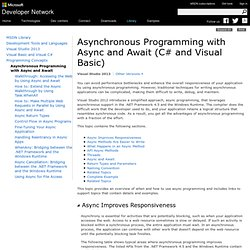 Asynchronous Programming for C# and Visual Basic