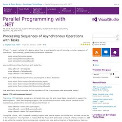 Processing Sequences of Asynchronous Operations with Tasks - .NET Parallel Programming