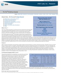 AT&T Labs Research - Yoix