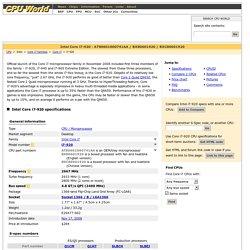 Intel Core i7-920 - AT80601000741AA / BX80601920 / BXC80601920