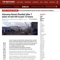 Atacama Desert flooded after 7 years of rain fell in just 12 hours