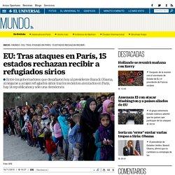 EU: Tras ataques en París, 15 estados rechazan recibir a refugiados sirios