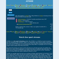ATDHE | ATDHE.net | Free sport streams