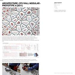 atelier//studio WF - ARCHITECTURE: CFS WALL MODULAR - PROTOTYPE A (2011)