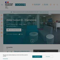 Site Internet de l'Atelier Canopé 63