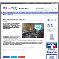 Atelier EMI et citoyenneté numérique