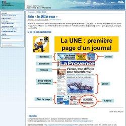 Atelier «Les UNES de presse» - Formations du CLEMI Aix-Marseille