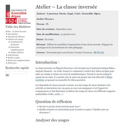 Atelier – La classe inversée