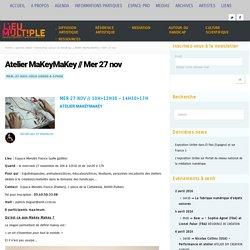 Atelier MaKeyMaKey // Mer 27 nov