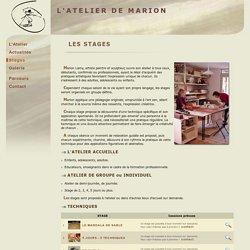 L'ATELIER DE MARION LAMY - Stages individuels ou groupe