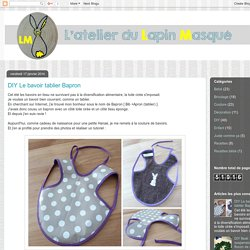 DIY Le bavoir tablier Bapron