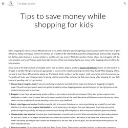 The Baby Atelier - Tips to save money while shopping for kids