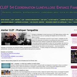CLEF 54 - Atelier CLEF: Pratiquer l'empathie