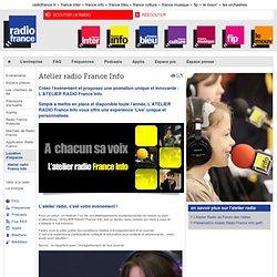 Atelier radio France Info