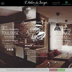 Accueil du site L'atelier du Burger. Anouchka