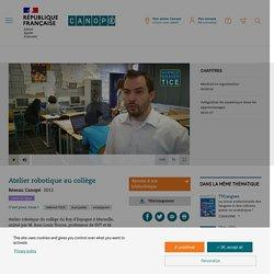 Atelier robotique au collège - Réseau Canopé