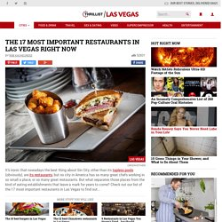From L'Atelier de Joel Robuchon to Andrea's these are Vegas' Best Restaurants