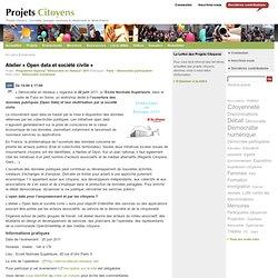 Atelier « Open data et société civile »