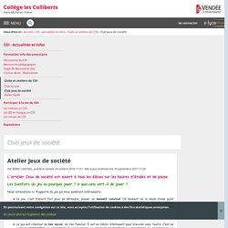 Atelier Jeux de société - Club jeux de société - Collège les Colliberts - Saint-Michel-en-l'Herm