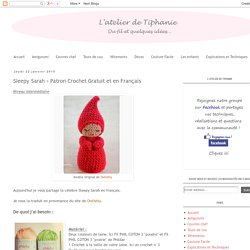 L'atelier de Tiphanie: Sleepy Sarah - Patron Crochet Gratuit et en Français