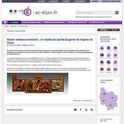 Atelier webdocumentaire : le retable de Sainte-Eugènie de l'église de Varzy